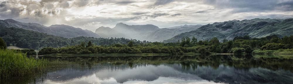 Panoramic view across elterwater