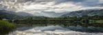Panoramic view across elterwater