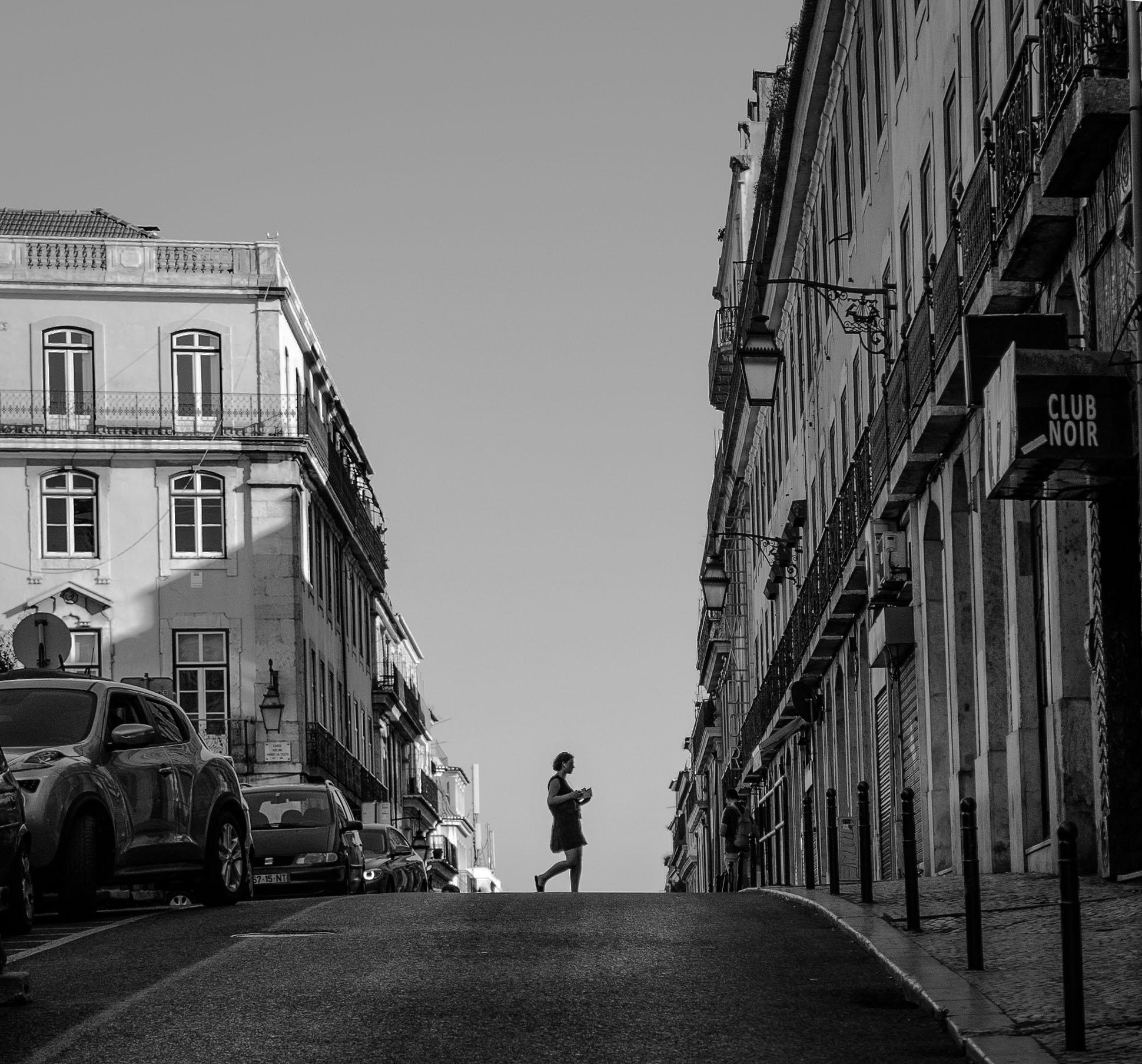Silhouette in Lisbon street